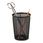 Nestable Jumbo Wire Mesh Pencil Cup, 4 3/8 dia. x 5 2/5, Black ROL62557