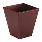Wood Tones Wastebasket, Trapezoidal, Wood, Mahogany ROL99200