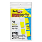 Removable Semi-Transparent Page Flags, Yellow, 50/Pack RTG76805
