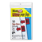 "Removable/Reusable Page Flags, ""Sign Here"", Red, 50/Pack RTG76809"