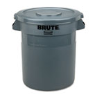"""Round Flat Top Lid, for 10-Gallon Round Brute Containers, 16"""", dia., Gray RCP2609GRA"""