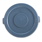 """Round Flat Top Lid, for 32-Gallon Round Brute Containers, 22 1/4"""", dia., Gray RCP263100GY"""