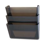 Stak-A-File Three Pocket Wall File, Letter, Smoke RUB47021ROS
