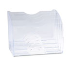 Two-Way Organizer, Five Sections, Plastic, 8 3/4 x 10 3/8 x 13 5/8, Clear RUB94610ROS
