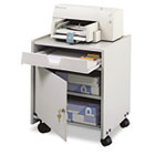 Office Machine Mobile Floor Stand, One-Shelf, 19w x 18-1/4d x 22-1/2h, Gray SAF1854GR