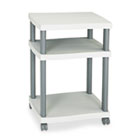 Wave Design Printer Stand, Three-Shelf, 20w x 17-1/2d x 29-1/4h, Charcoal Gray SAF1860GR