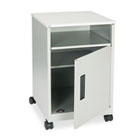 Steel Machine Stand w/Compartment, One-Shelf, 17-1/4w x 17-1/4d x 27-1/4h, Gray SAF1871GR