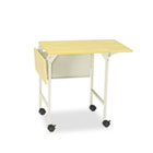 Mobile Machine Stand w/Drop Leaves, Two-Shelf, 36w x 18d x 26-3/4h, Gray SAF1876GR