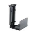 Ergo-Comfort Fixed-Mount Under Desk CPU Holder, 7w x 9-1/2d x 14h, Black SAF2176