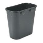 Paper Pitch Recycling Bin, Rectangular, Polyethylene, 1.75gal, Black SAF2944BL