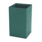 Public Recycling Container, Square, Steel, 25gal, Green SAF2981GN