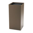 Public Recycling Container, Square, Steel, 31gal, Brown SAF2982BR