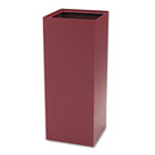 Public Recycling Container, Square, Steel, 37gal, Burgundy SAF2983BG