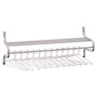 Chrome-Plated Shelf Rack, 12 Non-Removable Hangers, 49w x 14d x 19h, Metal SAF4164