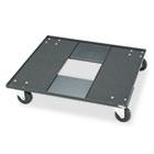 Stacking Chair Cart, 23-1/8w x 23-1/8d x 4-1/2h, Black SAF4188