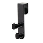 Plastic Coat Hook, 2-Hook, 1 3/4 x 3 3/4 x 7 3/4, Black SAF4227BL