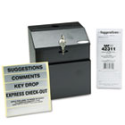 Steel Suggestion/Key Drop Box with Locking Top, 7 x 6 x 8 1/2 SAF4232BL
