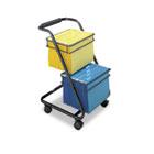 Jazz Two-Tier File Cart, 15-3/4w x 19d x 28h, Black SAF5223BL