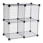 Wire Cube Shelving System, 14w x 14d x 14h, Black SAF5279BL
