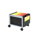 Mini-Scoot Mobile File, 19w x 14-3/4d x 14h, Black/Silver SAF5371BL