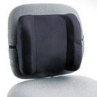 Remedease High Profile Backrest,123/4w x 4d x 13h, Black SAF71491