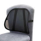 Mesh Backrest, 17-1/2w x 3-1/8d x 15h, Black SAF7153BL