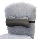 Lumbar Support Memory Foam Backrest, 14-1/2w x 3-3/4d x 6-3/4h, Black SAF7154BL
