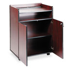 Executive Mobile Presentation Stand, 29-1/2w x 20-1/2d x 40-3/4h, Mahogany SAF8919MH