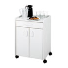 Mobile Refreshment Center, One-Shelf, 23w x 18d x 31h, Gray SAF8954GR