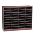 Wood/Fiberboard E-Z Stor Sorter, 36 Sections, 40 x 11 3/4 x 32 1/2, Mahogany SAF9321MH