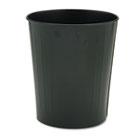 Fire-Safe Wastebasket, Round, Steel, 23.5qt, Black SAF9604BL