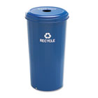 Tall Recycling Receptacle for Cans, Round, Steel, 20 gal, Recycling Blue SAF9632BU
