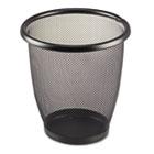 Onyx Round Mesh Wastebasket, Steel Mesh, 3qt, Black SAF9716BL
