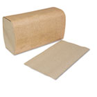 Single-Fold Towels, Natural, 10 1/4 x 9 1/8, 1-Ply, 250/Pack, 16 Packs/Carton SCASK1850A