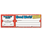 Good Work Ticket Awards, 8 1/2w x 2 3/4h, 100 2-Part Tickets/Pack SHS0439652073