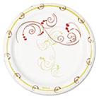 "Symphony Paper Dinnerware, Mediumweight Plate, 6"", Tan, 1000/Carton SCCMP6J8001CT"
