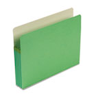 3 1/2 Inch Accordion Expansion Colored File Pocket, Straight Tab, Letter, Green SMD73226