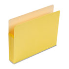 3 1/2 Inch Accordion Expansion Colored File Pocket, Straight Tab, Letter, Yellow SMD73233