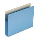 5 1/4 Inch Accordion Expansion Colored File Pocket, Straight Tab, Letter, Blue SMD73235