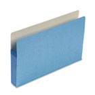 3 1/2 Inch Accordion Expansion Colored File Pocket, Straight Tab, Legal, Blue SMD74225