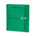 Poly String & Button Booklet Envelope, 9 3/4 x 11 5/8 x 1 1/4, Green, 5/Pack SMD89523