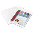 Top-Load Envelopes, 1 1/4 Inch Expansion, Jacket, Letter, Poly, Clear, 5/Pack SMD89670