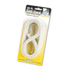 Coiled Phone Cord, Plug/Plug, 25 ft., Ash SOF42215