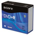 DVD+R Discs, 4.7GB, 16x SON10DPR47R4