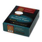 100% Cotton Business Paper, White, 24 lbs., Wove, 8-1/2 x 11,  500/Box SOU3112410