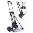 Portable Slide-Flat Cart, 275lbs, 18 3/4 x 19 x 40, Black/Chrome STB390009CHR