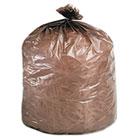 Eco-Degradable Plastic Trash Garbage Bag, 39gal, 1.1mil, 33 x 44, Brown, 40/Box STOG3344B11