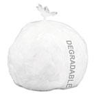 Eco-Degradable Plastic Trash Garbage Bag, 13gal, .7mil, 2x30, White, 120/Box STOG2430W70