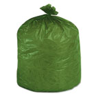 Eco-Degradable Plastic Trash Garbage Bag, 33gal, 1.1mil, 33 x 40, Green, 40/Box STOG3340E11