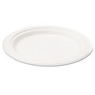 "Bagasse 6"" Plate, Round, White, 50/Pack SVAP001"